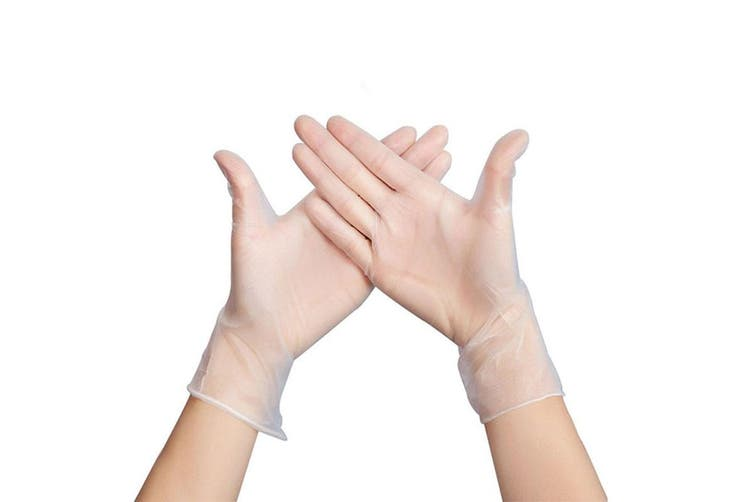 100Pcs Disposable Vinyl Gloves Latex Gloves Handcare(L)