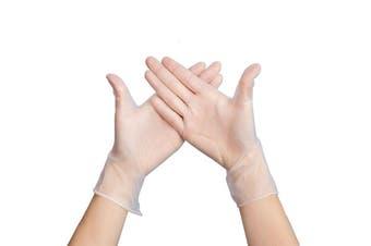 200Pcs Disposable Vinyl Gloves Latex Gloves Handcare(M)