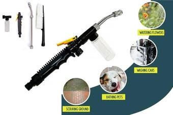 High Pressure Water Spray Gun Power Washer Home Car Nozzle Water Gun Bottle Brush Set