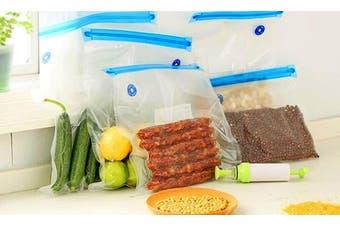 Reusable Food Vacuum Sealer Bag with Manual Pump: 16cmx22cm / 10 Pieces