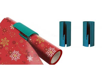 2Pack Sliding Wrapping Paper Cutter Craft Seconds Wrap Paper Christmas Cut Tools
