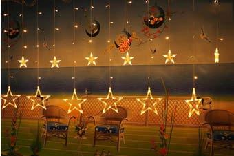Star String Light Romantic LED Curtain Lights Home Decor Fairy Light(Warm White)