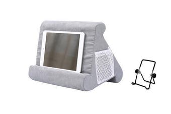 Pillow Tablet Stand Multi-Angle Reading Holder with Mesh Bag Handle(Gray)