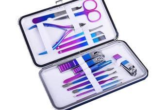 15Pcs Manicure Pedicure Nail Grooming Kit Nail Clipper Set