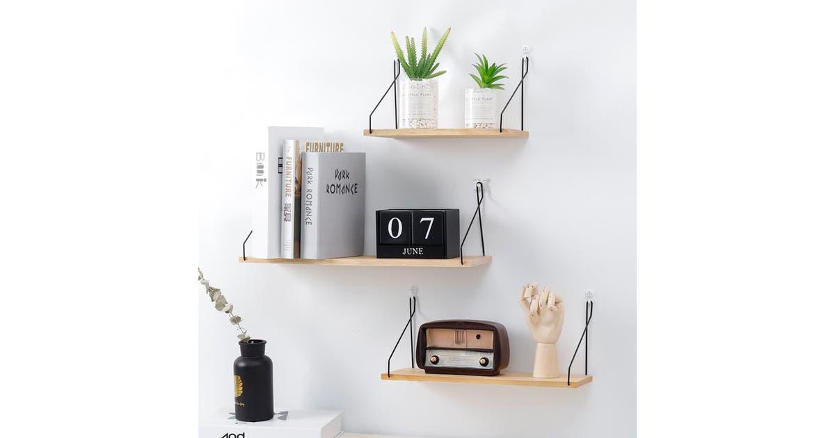 sensual sale floating shelves hanging shelf wall mounted home decor organizer rack for living room bedroom bathroom kitchen yel