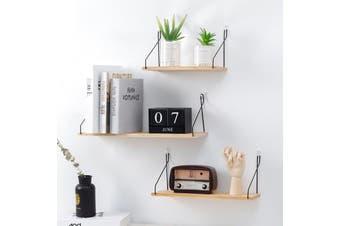 2 X Floating Shelves Hanging Shelf Wall Mounted Home Decor Organizer Rack for Living Room Bedroom Bathroom Kitchen