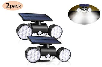 30LED Dual Head Motion Sensor Solar Powered Lights Wall Lights(2 Packs)