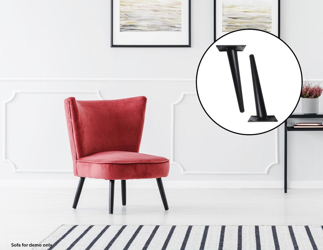 Picture of: 4 X 20cm Metal Furniture Legs Mid Century Retro Scandinavian Danish Sofa Feet Matt Blatt