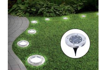 12x Solar Powered LED Buried Inground Recessed Light Garden Outdoor Deck Path
