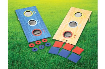 2-in-1 Three-Hole Bags and Washer Toss Combo Cornhole Portable Outdoor Games