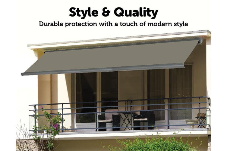 Heavy Duty Full Cassette Motorised Awning - 4.0m x 3.0m