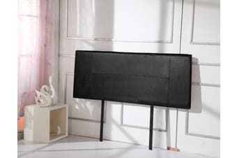 PU Leather Queen Bed Headboard Bedhead - Black