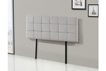 Linen Fabric Double Bed Deluxe Headboard Bedhead - Beige
