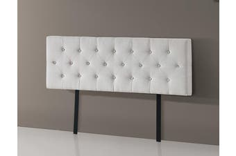 Linen Fabric Queen Bed Deluxe Headboard Bedhead - Beige