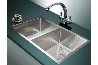 835x505mm Handmade 1.5mm Stainless Steel Undermount / Topmount Kitchen Sink with Square Waste