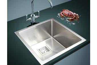 430x455mm Handmade 1.5mm Stainless Steel Undermount / Topmount Kitchen Sink with Square Waste
