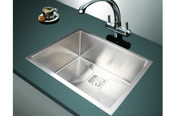 550x455mm Handmade 1.5mm Stainless Steel Undermount / Topmount Kitchen Sink with Square Waste