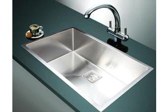 810x505mm Handmade 1.5mm Stainless Steel Undermount / Topmount Kitchen Sink with Square Waste