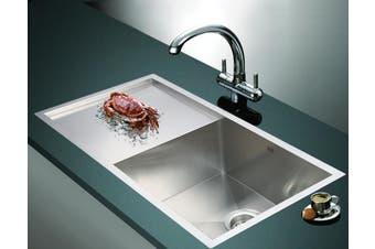 960x450mm Handmade Stainless Steel Undermount / Topmount Kitchen Sink with Waste
