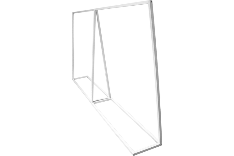 Commercial Clothing Garment Rack Retail Shop White
