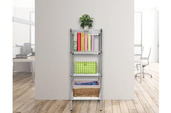 Modular Chrome Wire Storage Shelf 450 x 450 x 1800 Steel Shelving