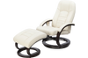 PU Leather Deluxe Massage Chair Recliner Ottoman Lounge Remote