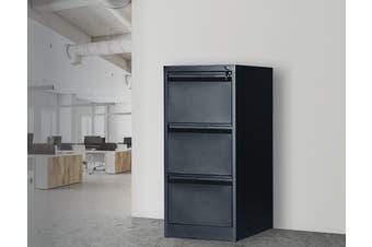 3-Drawer Shelf Office Gym Filing Storage Locker Cabinet