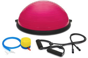 Yoga Balance Trainer Exercise Ball for Arm, Leg, Core Workout with Pump, 2 Resistance Bands