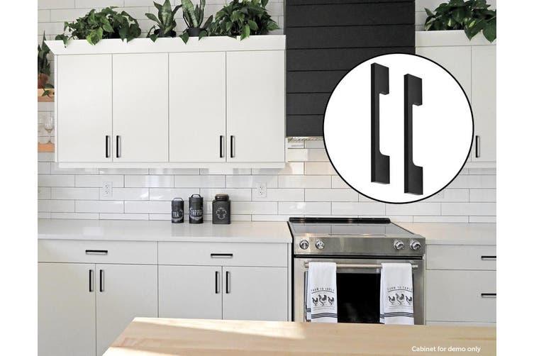 5 X 96mm Kitchen Handle Cabinet Cupboard Door Drawer Handles Square Black Furniture Pulls Matt Blatt