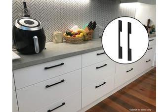 5 x 160mm Kitchen Handle Cabinet Cupboard Door Drawer Handles square Black furniture pulls