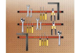 3 x 61cm Magnetic Wall Mounted Tool Holder Storage Organiser Garage Workshop