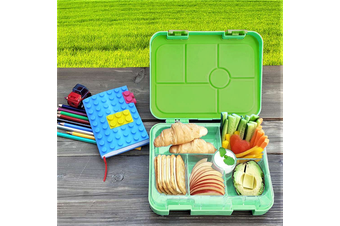 Bento Lunch Box Kids Leakproof Food Container School Picnic - Green