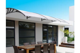 DIY Outdoor Awning Cover 1mx3m with Rain Gutter