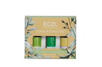 ECO. Clarity & Focus Essential Oil Aroma Trio