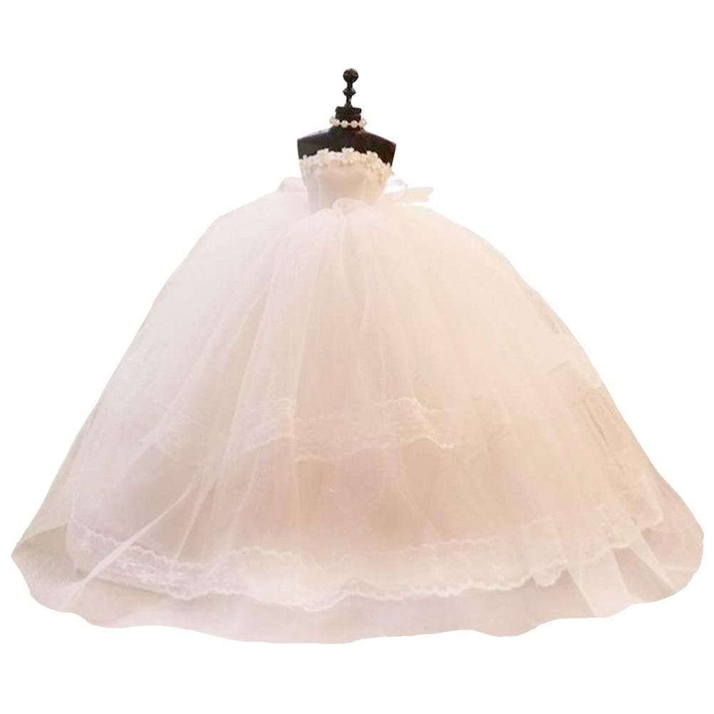 Wedding Dress Model Mini Wedding Dress Bride Clothes Model DescriptionThis item is a wedding dress model matching pink rococo gift box. Wedding dress, a symbol of hapiness, the best wishies for your girl friends, and the pink rococo gift box gives you a sense of warm and romantic. This is best gift and wishes for your family and friends.Features Color: White. -Material: Wedding Dress Fabric. -Size: Approx. 35 × 30 × 30 cm / 13.78 × 11.81 × 11.81 inch. Carefully packaged in a fitted box for easy gifting and storage.- Ideal not only as gifts to friends, but beautiful ornament in your living room or bedroom.- High quality and low price, high cost performance.- Comfortable color and careful craftsmanship give you an exclusive and customized feel.- Realistic wedding dress modeling gives all girls who look forward to a princess dream.1 x wedding dress model