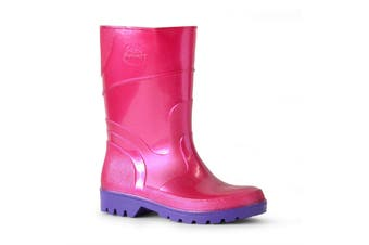Bata Kids Gumboot Australian Made Hi Cut All Purpose Pink Purple
