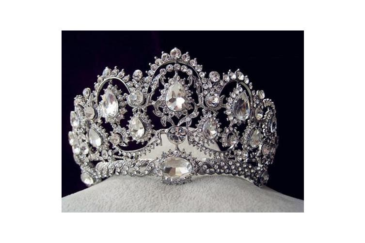 YallFF Vintage Peacock Crystal Diamond Bride Bridal Wedding Hair Head Band Wear Rhinestone Jewellery Headdress Headband Tiara Coronal Big Crown Pageant