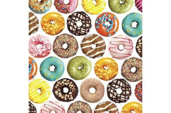 Delicious Donuts Gift Wrap Flat Sheet - 60cm x 1.8m