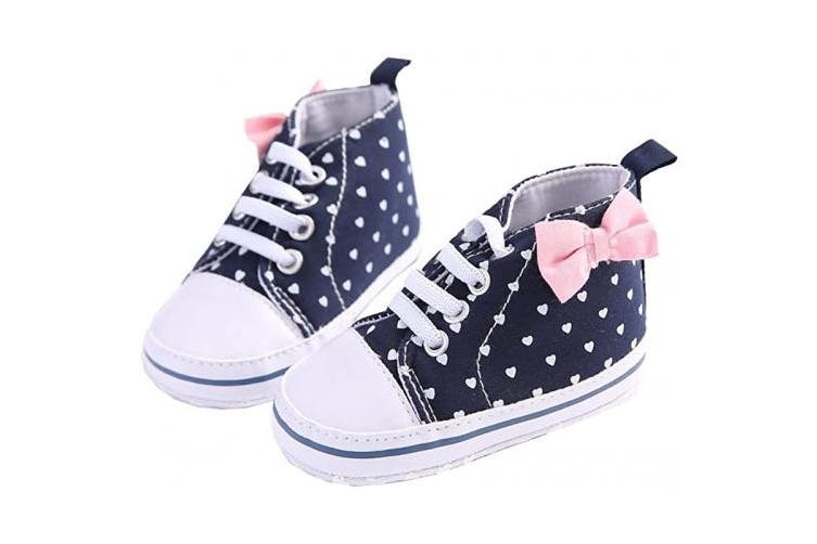 (11 (3-6 Months), White Love Print) - WAYLONGPLUS Infant Canvas Soft Sole Anti-Slip Prewalker Toddler Crib Shoes Love Print Sneaker (White Size 11)