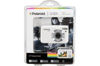 Polaroid IS824-WHT 16.1 Megapixel HD Digital Camera - 8x Optical Zoom - 6.1cm LCD Display - White