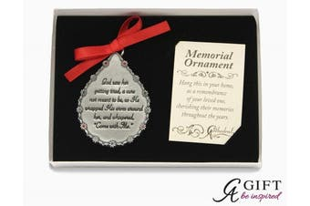 (God Saw Her Getting Tired Teardrop Ornament) - Cathedral Art CO515 God Saw Her Getting Tired Teardrop Memorial Ornament, 7cm