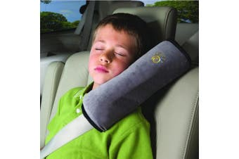 Car Belt Pillow,Beyoung (TM) Children Baby Safety Strap Plush Soft Cushion Headrest Neck Support Pillow Shoulder Cover Pad for Car Safety Seatbelt (Grey)