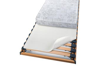 (100x200 cm) - Beautissu Mattress Protector Beautect Bed Slat Mattress Underlay 100 x 200 cm Non-Slip Rubber Backing Support Pad