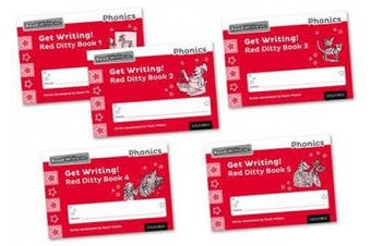 Read Write Inc. Phonics: Get Writing! Red Ditty Books 1-5 Mixed Pack of 5 (Read Write Inc. Phonics)