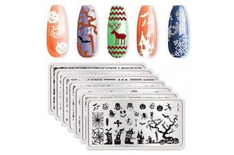 (25719) - Born Pretty 7Pcs Nail Art Stamping Plates Stamping Templates BPL026-L032