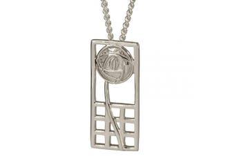 "740 Charles Rennie . Silver Necklace""Margaret"". Tarnish Resistant Pendant."