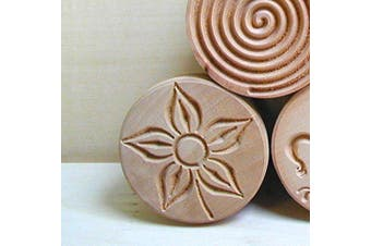Calder Corzetti Mould Flower Shape, 5.3 Cm Diameter-5.5 Cm Height, Colour - Brown