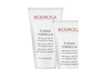 Biodroga puran formula BB cream spf 15 for impure skin - 01 sand touch 40 ml /44gr (New)