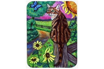 Bengal Cat Glass Cutting Board Large 7425LCB