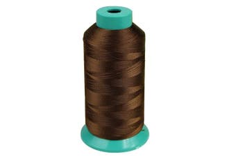 (Brown) - Bonded Nylon Sewing Thread 3000 Yard 150D for the Upholstery, Outdoor Market, Drapery, Beading, Luggage, Purses (Brown)